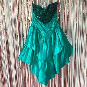 Vintage 80s Madonna green sequin taffeta dress 11